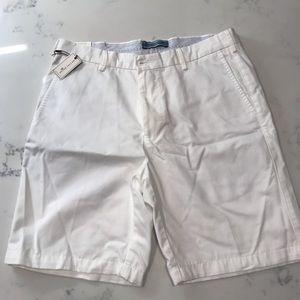 NWT Peter Millar White Golf Shorts